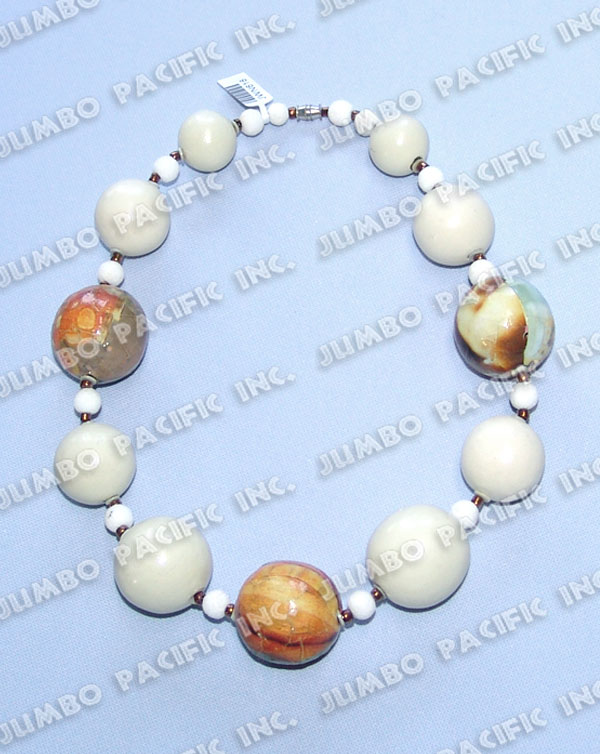 Phillipnes Jewelry Wood Necklaces