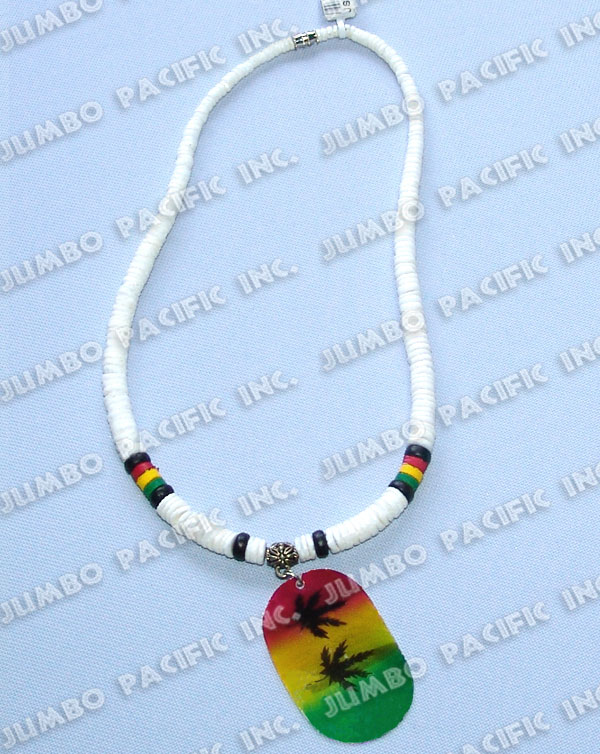 philippines jewelry shell rasta necklaces
