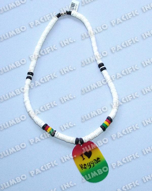 philippines jewelry shell rasta necklaces